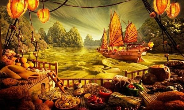 Barcos arte oriental