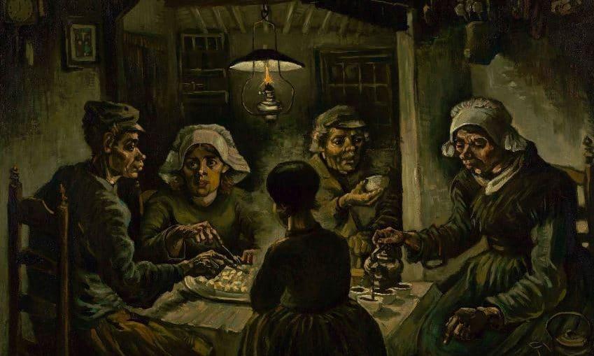 """""""Los comedores de patatas"""" Van Gogh"""