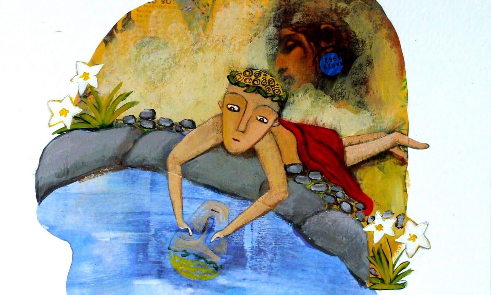 Eco y Narciso. Ilustración de María Paz Silva