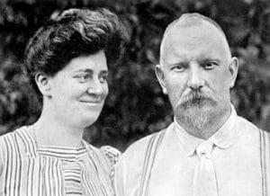 Jules y su mujer en 1908
