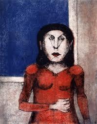 """Mujer enojada"" de Rufino Tamayo"