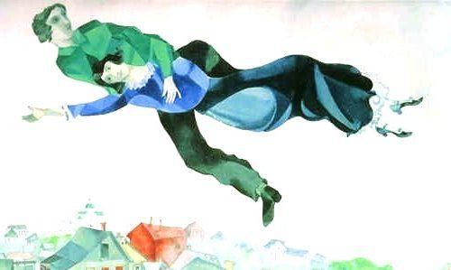"""Sobre la ciudad"" Marc Chagall (1918)"