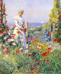 """The garden"" Frederick Childe Hassam"