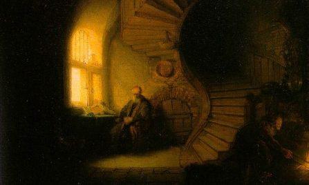 """""""Filósofo meditando"""" Rembrandt van Rijn"""