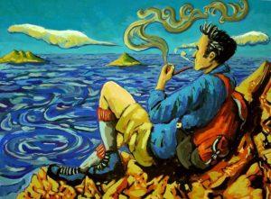 """""""Meditando en el cerro"""". Javier Molina Henriquez"""