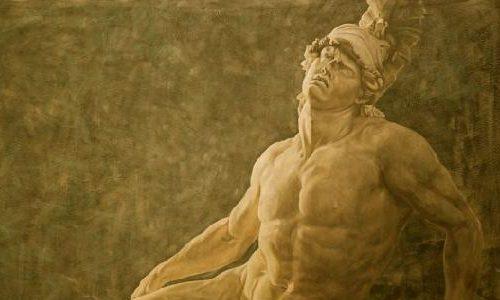 El héroe Aquiles, deprimido