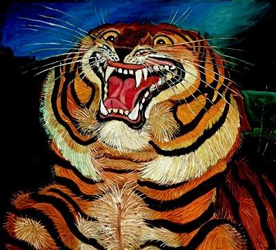 Cabeza de tigre de A. Libgabue