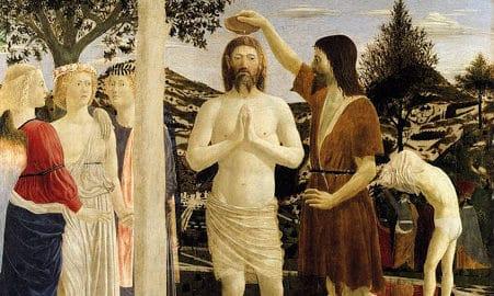 """""""El bautismo de Cristo"""" Piero della Francesca"""
