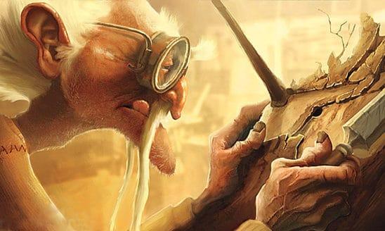 Concept Art de Guillermo del Toro sobre Pinocho