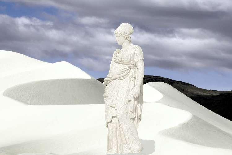 Como la mujer de Lot, convertidos en estatuas de sal