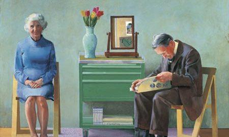"""A mis padres"" de David Hockney"