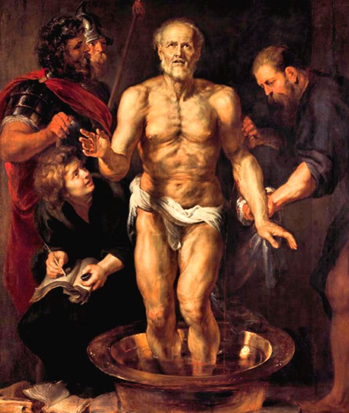 La muerte de Séneca, Rubens.