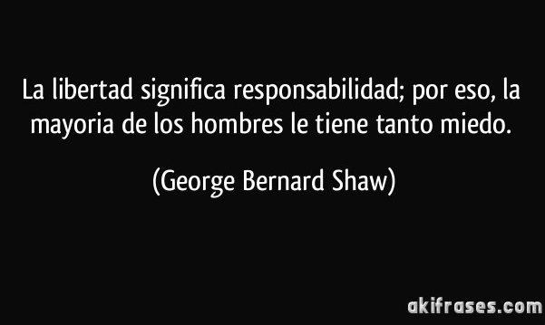 Frase de George Bernard Shaw