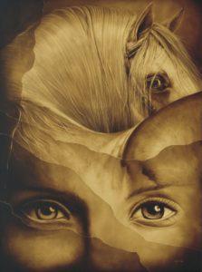 Surrealismo caballos al óleo