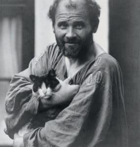 Klimt portando su gato
