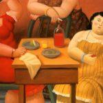 """""""Tres mujeres bebiendo"""" Fernando Botero"""
